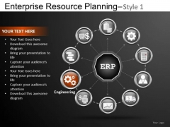 Cycle Enterprise Resource Planning 1 PowerPoint Slides And Ppt Diagram Templates
