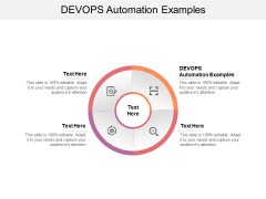 DEVOPS Automation Examples Ppt PowerPoint Presentation Icon Diagrams Cpb