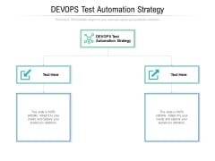 DEVOPS Test Automation Strategy Ppt PowerPoint Presentation Summary Layout Cpb Pdf