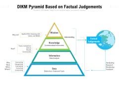 DIKM Pyramid Based On Factual Judgements Ppt PowerPoint Presentation Ideas Designs Download PDF