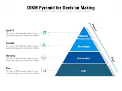 DIKM Pyramid For Decision Making Ppt PowerPoint Presentation Professional Brochure PDF