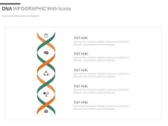 DNA Design Infographics For Research Powerpoint Slides