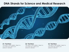 DNA Strands For Science And Medical Research Ppt PowerPoint Presentation Infographics Information PDF