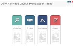 Daily Agendas Layout Presentation Ideas