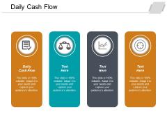 Daily Cash Flow Ppt PowerPoint Presentation Layouts Portfolio Cpb