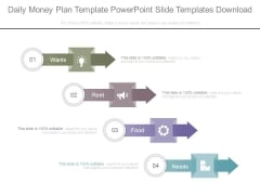 Daily Money Plan Template Powerpoint Slide Templates Download
