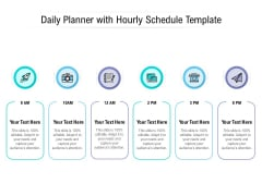 Daily Planner With Hourly Schedule Template Ppt PowerPoint Presentation Inspiration Guidelines PDF
