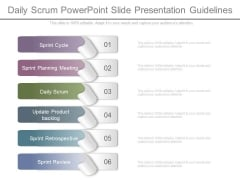 Daily Scrum Powerpoint Slide Presentation Guidelines