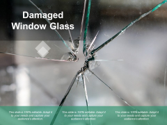 Damaged Window Glass Ppt PowerPoint Presentation Pictures Designs Download
