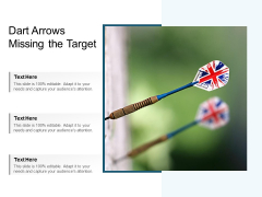 Dart Arrows Missing The Target Ppt Powerpoint Presentation Inspiration Sample