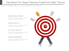 Dart Board For Target Planning Powerpoint Slide Themes