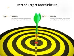 Dart On Target Board Picture Ppt PowerPoint Presentation Infographic Template Diagrams PDF