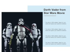 Darth Vader From Star Wars Movie Ppt PowerPoint Presentation Portfolio Clipart Images