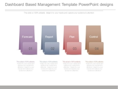 Dashboard Based Management Template Powerpoint Designs