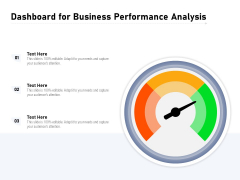 Dashboard For Business Performance Analysis Ppt PowerPoint Presentation File Structure PDF