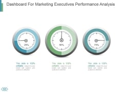 Dashboard For Marketing Executives Performance Analysis