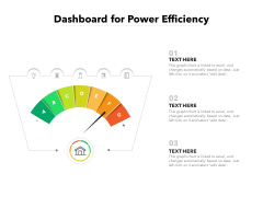 Dashboard For Power Efficiency Ppt PowerPoint Presentation File Outline PDF