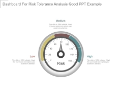 Dashboard For Risk Tolerance Analysis Good Ppt Example