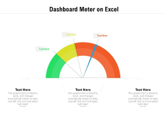 Dashboard Meter On Excel Ppt PowerPoint Presentation Icon Slides PDF