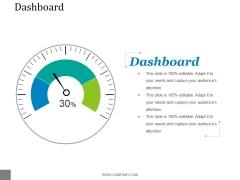 Dashboard Ppt PowerPoint Presentation Template