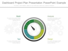 Dashboard Project Plan Presentation Powerpoint Example