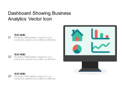 Dashboard Showing Business Analytics Vector Icon Ppt PowerPoint Presentation Model Templates PDF