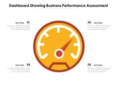 Dashboard Showing Business Performance Assessment Ppt PowerPoint Presentation Portfolio Design Templates PDF