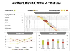 Dashboard Showing Project Current Status Ppt PowerPoint Presentation File Pictures PDF