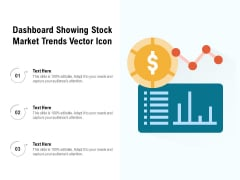 Dashboard Showing Stock Market Trends Vector Icon Ppt PowerPoint Presentation File Icons PDF