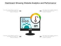 Dashboard Showing Website Analytics And Performance Ppt PowerPoint Presentation Portfolio Inspiration PDF