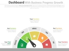 Dashboard To Simplify Business Data Analysis Powerpoint Slides