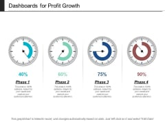 Dashboards For Profit Growth Ppt PowerPoint Presentation Summary Templates