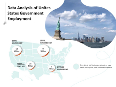 Data Analysis Of Unites States Government Employment Ppt PowerPoint Presentation Professional Brochure PDF