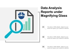 Data Analysis Reports Under Magnifying Glass Ppt PowerPoint Presentation Icon Graphic Tips