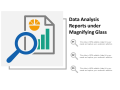 Data Analysis Reports Under Magnifying Glass Ppt Powerpoint Presentation Summary Slideshow