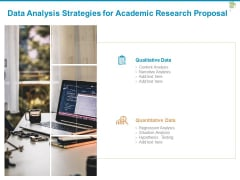 Data Analysis Strategies For Academic Research Proposal Ppt PowerPoint Presentation Model Grid