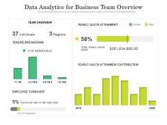data analytics for business team overview ppt powerpoint presentation outline infographics pdf