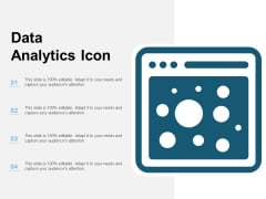 Data Analytics Icon Ppt PowerPoint Presentation File Design Templates