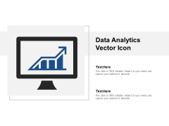 Data Analytics Vector Icon Ppt PowerPoint Presentation Gallery Smartart