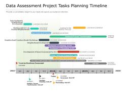 Data Assessment Project Tasks Planning Timeline Ppt PowerPoint Presentation Ideas Images PDF