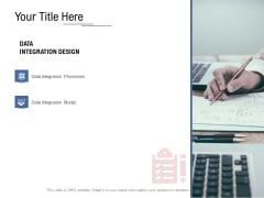 Data Assimilation Your Title Here Integration Ppt Professional Rules PDF