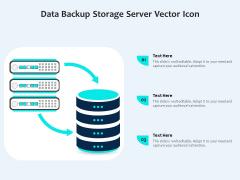 Data Backup Storage Server Vector Icon Ppt PowerPoint Presentation File Outline PDF