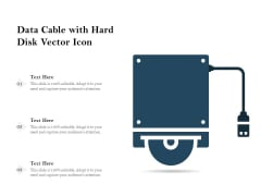 Data Cable With Hard Disk Vector Icon Ppt PowerPoint Presentation File Outline PDF