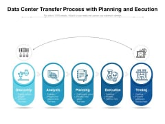 Data Center Transfer Process With Planning And Eecution Ppt PowerPoint Presentation Gallery Example PDF