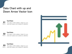 Data Chart With Up And Down Arrow Vector Icon Ppt PowerPoint Presentation Layouts Pictures PDF