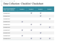 Data Collection Checklist Checksheet Ppt PowerPoint Presentation File Example File