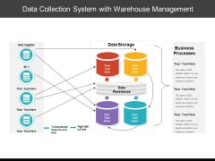Data Collection System With Warehouse Management Ppt PowerPoint Presentation File Templates PDF