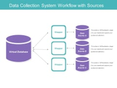 Data Collection System Workflow With Sources Ppt PowerPoint Presentation File Ideas PDF