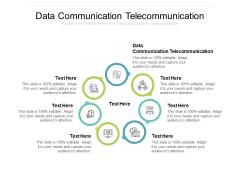 Data Communication Telecommunication Ppt PowerPoint Presentation Model Display Cpb