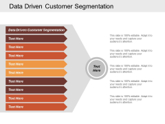 Data Driven Customer Segmentation Ppt Powerpoint Presentation Infographic Template Outfit Cpb